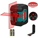 Laser Level, HYCHIKA Line Laser with Double Source Range 50 Ft, Switchable Self-Leveling