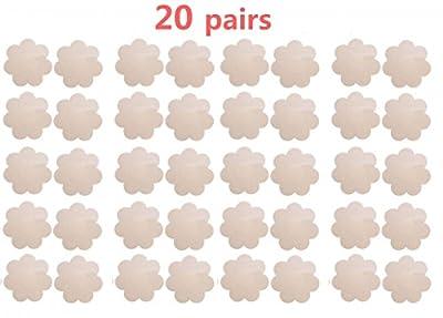20 Pairs Womens Pasties Nipple Cover Satin Breast Petal Disposable Flower Shape