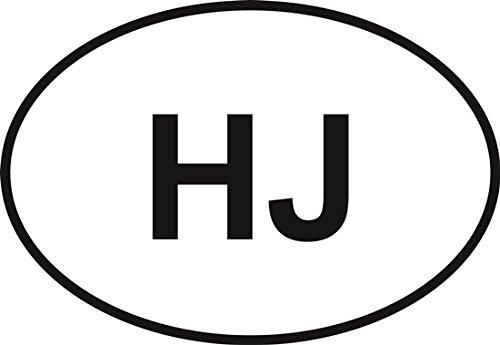 Hunter-Jumper Oval Bumper Sticker (Hunter Jumper)