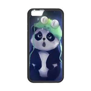 iPhone 6 Plus 5.5 Inch Cell Phone Case Black Cute Panda Painting Rvvdk
