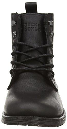amp; Jjcrust Jack Homme Bottines 1 black Noir Boot Doublure Leather Jones À dHT4nZ
