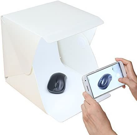 RC Foldable Lightbox Studio with Backdrop-Photography Studio Light Tent for Smartphone or DSLR