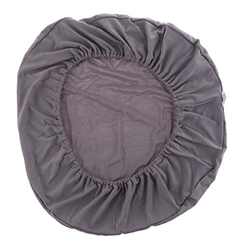 Baoblaze Stretchable Dining Chair Cover, for 45-50cm Diameter Round/Square Chair Stool, for Wedding Banquet Party Office Home Reception Decorations - Grey ()