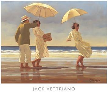 RETRO ART PRINT Summer Days Triptych Jack Vettriano