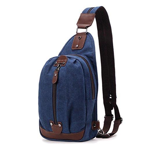 Bulage Bolsas Para Jóvenes Estudiantes Bolso Del Mensajero De La Lona bolso Hombres De Gran Capacidad Ocio Deportes Al Aire Libre Mochila Pequeña Viajes Blue