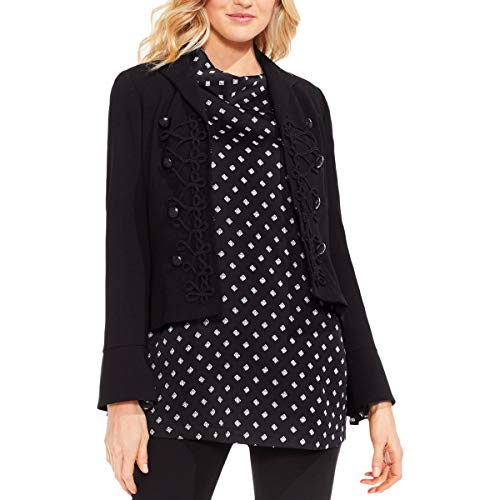 VINCE CAMUTO Womens Office Wear Professional Military Jacket Black 4