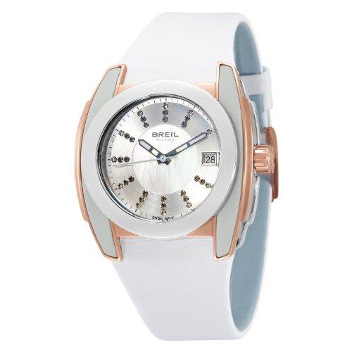 Breil Milano Women's BW0519 Lady Aquamarine Analog Silver Dial Watch