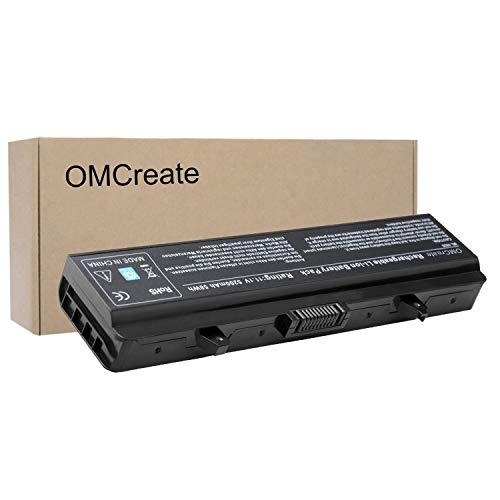 OMCreate Battery Compatible with Dell Inspiron 1525 1526 1545 1546 PP29L PP41L Series Vostro 500, fits P/N X284G / M911 / M911G / GW240 / RN873 / GP952 / RU586 / C601H / 312-0844 - 12 Months Warranty (Best Battery For Dell Inspiron 1545)