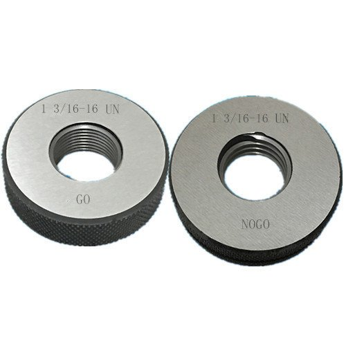 1 3/16-16 UN Thread Ring Gage 2A GO NOGO 100% Calibrated ship by Fedex Delivery in 4 days ()