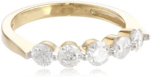 10k Gold Five-Stone Diamond Ring (1 cttw, H-I Color, I2-I3 Clarity)