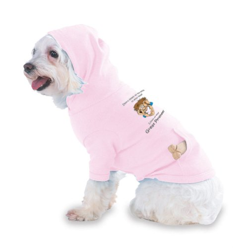 Don't listen to the voices in your head Listen to your Great Pyrenees Hooded (Hoody) T-Shirt with pocket for your Dog or Cat Size XS Lt Pink, My Pet Supplies
