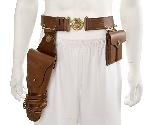 Officers Leather Belt set with M1912 1911 Holster and .45 Magazine Pouch