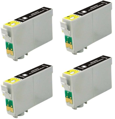 Virtual Outlet ® 4 Pack Remanufactured Black Inkjet Cartridges for Epson T060 #60, T060120 Compatible with Epson Stylus C68, Stylus C88, Stylus CX3800, Stylus CX3810, Stylus CX4200, Stylus CX4800, Stylus CX7800, Stylus CX5800F, Stylus C88Plus (4 Black)