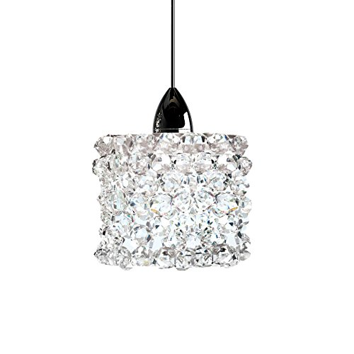 1 Light Eternity Pendant - WAC Lighting MP-539-WD/CH Mini Haven Crystal Pendant Fixture with Chrome Canopy, One Size, Clear Diamond