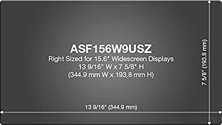 Laptop 16:9 Ratio Targus 4Vu Privacy Screen Filter for 11.6-Inch Widescreen ASF116W9USZ