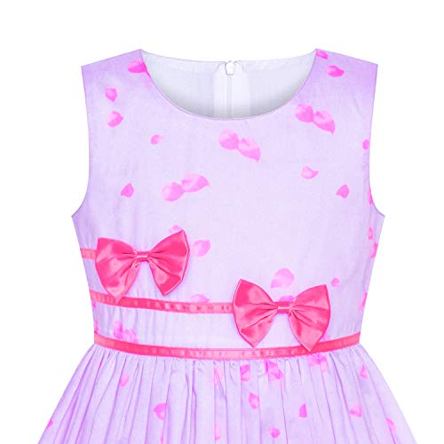 ec49f713013 Jual Sunny Fashion Girls Dress Rose Flower Double Bow Tie Party ...