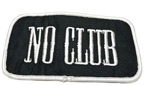 NO Club Embroidered Patch Tactical Military Morale Biker