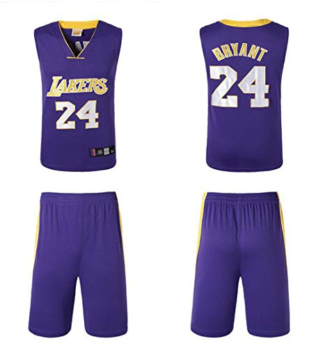 Nba Tenue 24 Lakers Pour De Bryant Basketball purple ° T N Kobe Homme qq8aC
