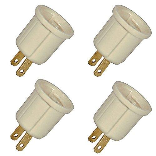 Light Bulb Socket Plug Converter Adapter 110v ()