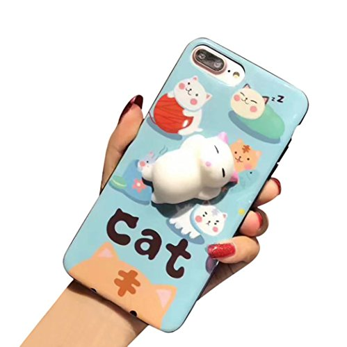 Price comparison product image GBSELL Cute Squishy 3D Lazy Cat Soft Back Case Cover for iPhone 7 Plus (#1)