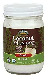 NOW Foods Ellyndale Organics Coconut Infusions Garlic, 12 Ounce