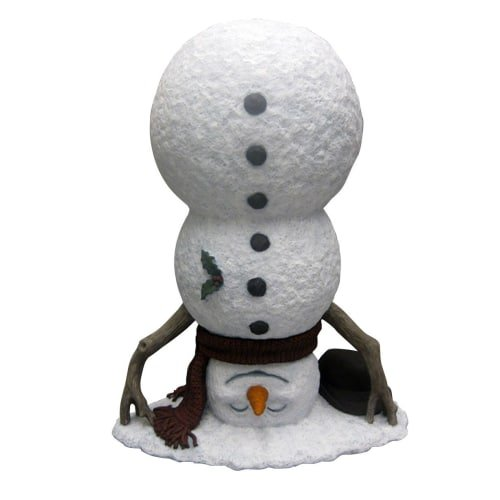Design House 319707 20 Inch Tall Upside Down Snowman Winter Lawn Decoration, N/A (Snowman Lawn Decorations)