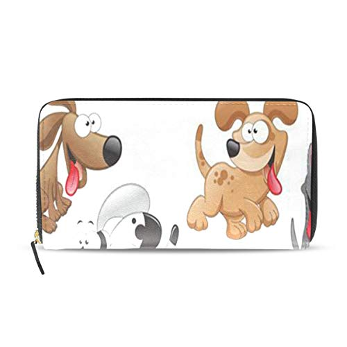 Womens Wallets Dogs Cartoons Leather Passport Wallet, used for sale  Delivered anywhere in USA