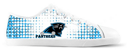 Panthers Logo Ladys Antiscivolo Scarpe Di Tela Pantere Canvas Shoes06