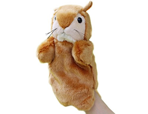 RIY Hand Puppet - Zoo Friends Animals Educational Puppets, Squirrel