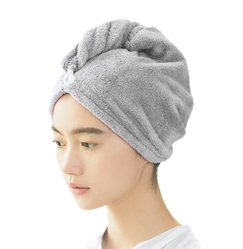 PRIMA Women's Microfiber Quick Drying Hair Towel, Ultra Absorbent & Fast Men's Drying Hair Turban Wraps Hat For Anti-Frizz(25.6