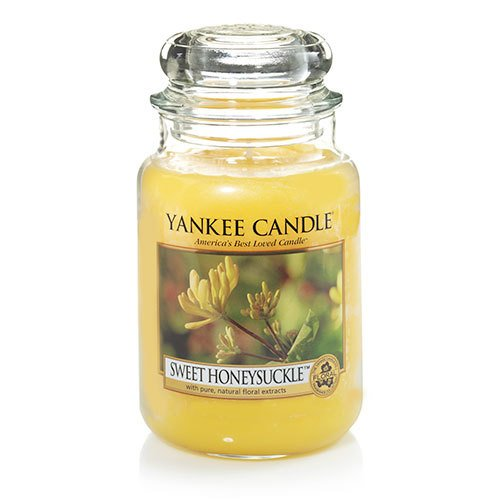 Yankee Candle Large Jar Candle, Sweet Honeysuckle, 22 Oz. Sc