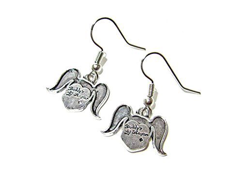 Dangle Earrings DC Harley Quinn Daddy's Lil Monster In Gift Box by Superheroes (Lil Monster Halloween Costume)