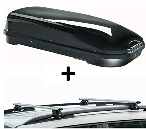 Dachbox VDPFL580 580Ltr schwarz gl/änzend 2002-2009 Dachtr/äger CRV135 kompatibel mit Porsche Cayenne I 5 T/ürer
