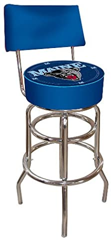 NCAA University of Maine Padded Swivel Bar Stool with Back