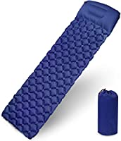 Fxexblin Sleeping Pad, Camping Mat with Pillow Waterproof and Moisture-Proof Roll Mats for Hiking...