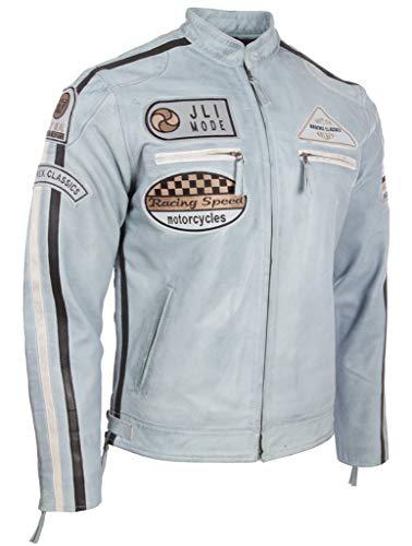 Veritable De Collier Pour cxus Insignes Aviatrix Moto Hommes Bleu Ciel En Cuir Veste Et Bande Avec CSX4qwTHn