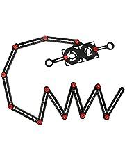 icyant Multihoek-meetliniaal, 12 zijgatpositionering, aluminiumlegering, upgrade multi-hoek-meetliniaalsjabloongereedschap met booropening, locator voor doe-het-zelvers, timmerlieden, tegelzetters en ambachtslieden