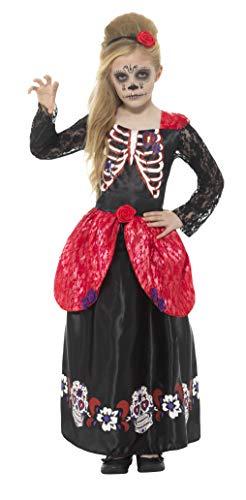 Comprar Disfraz De Chica Deluxe Del Día De Muertos Con Vestido Y Diadema - Varias Tallas - Tienda Online Envíos Baratos o Gratis