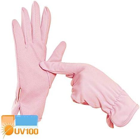 BAJIMI UVカット手袋 手触りが良い ファッションUVプロテクションUPF50 +シリコン滑り止め屋外スポーツ用手袋 夏 ハンド ケア レディース/メンズ (Color : NO.9, Size : L)