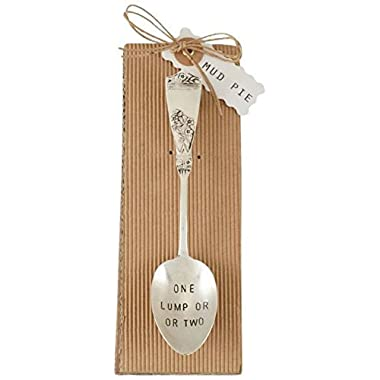 Mud Pie One Lump Coffee Spoon, Silver