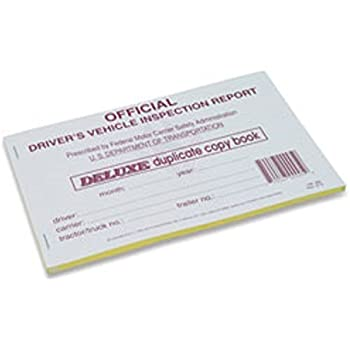 J.J. Keller - Detailed Drivers Vehicle Inspection Report, Duplicate, 25 Pack