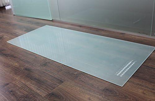 Rechteck *Frosty* 140x40cm Kamin-Vorlegeplatte Milchglas Funkenschutzplatte Kaminbodenplatte Glasplatte Rechteck *Frosty* 140x40cm- ohne Dichtung