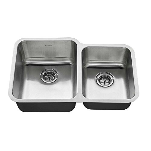 American Standard 18CR.9312000T.075 Undermount 31x20 Offset Double Bowl Sink, Stainless Steel American Standard Double Bowl Sink
