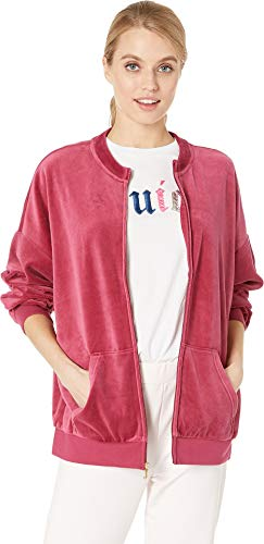 Juicy Couture Women's Velour Beverly Jacket Pomegranate Petite/X-Small