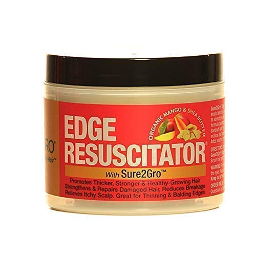 NEW LOOK! Good2Gro Mango & Shea Butter Edge Resuscitator W/SURE2GRO + Dramatically Promotes Fast Hair Regrowth In Weeks + Repairs Damage Caused By Wigs, Weaves and Braiding - For Men and Women 4 oz.