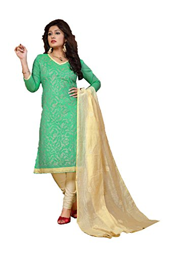 Sea Green Cotton Kameez (Indian Trends Indian Women Designer Party wear light sea Green Brown Anarkali)