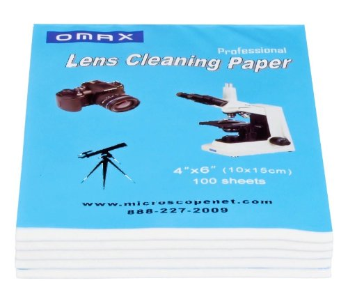 OMAX Microscope & Camera Lens Cleaning Paper Booklets 500 Sheets