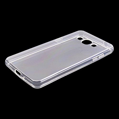 COOLKE transparentee Soft Silicone Cover Clear Case Funda Protectora Carcasa Blanda Caso para Samsung Galaxy J3 Pro - transparente