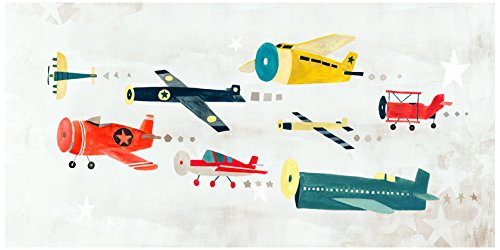 Baby Irene Four Poster (BR &Nameinternal - Airplanes on The Move 48x24 canvas Wall Art, by Irene Chan)