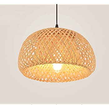 LIN XIAO HAO mayu Simple Chandelier Nordic Restaurant Lights Led Bamboo Art Rattan Weaving Pendant Lamps